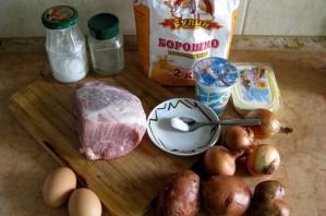 Курник со свининой и картошкой - фото шаг 1