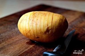 Печеный картофель с сыром - фото шаг 1