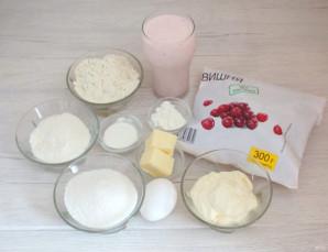 Пирог с вишней и йогуртом - фото шаг 1
