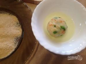 Картофельно-рыбные котлеты с овощами в духовке - фото шаг 9