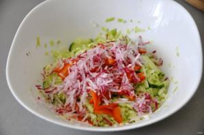 Салат из молодой зелёной капусты - фото шаг 6