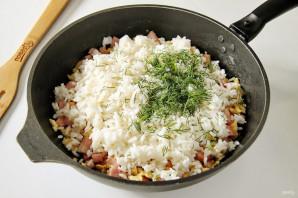 Рис с ветчиной - фото шаг 6