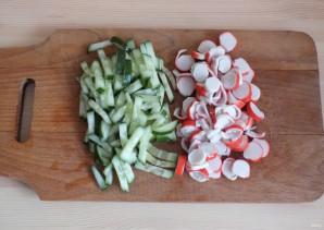 Салат с фунчозой и крабовыми палочками - фото шаг 3