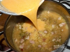 Суп гороховый с копченостями - фото шаг 11