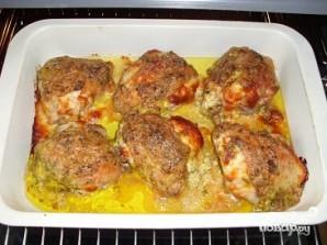 Куриные бедра в духовке с сыром - фото шаг 5