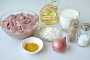 Куриная печень в соусе с карри - фото шаг 1