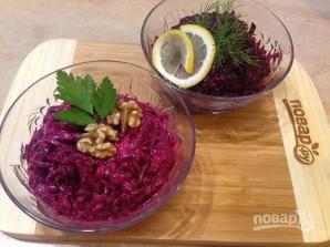 Свекольный салат с чесноком и орехами - фото шаг 7