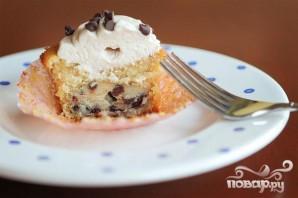 Капкейки с шоколадом и кремом - фото шаг 4