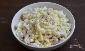 Салат с грудкой и грибами - фото шаг 6