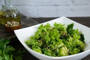 Огуречный салат с семечками - фото шаг 5
