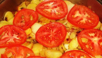 Жареная картошка с фаршем - фото шаг 3