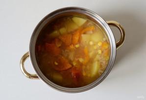 Суп с кукурузой и сладким перцем - фото шаг 6