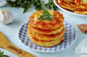 Картофельные оладьи с сыром - фото шаг 9