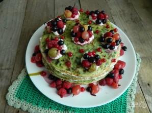 Торт из шпинатных блинчиков - фото шаг 6