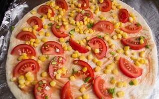 Пицца с маслинами - фото шаг 9