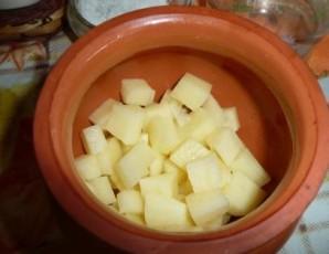 Говядина в горшочках с картошкой - фото шаг 3