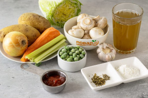 Овощное рагу без масла