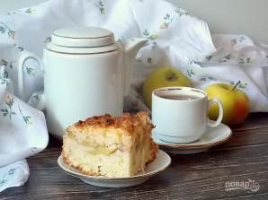 Творожный пирог с яблоками и карамелью - фото шаг 14