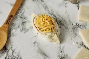 Лодочки из слоеного теста с картофелем и мясом - фото шаг 11