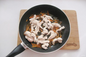 Китайский жареный рис с курицей - фото шаг 5