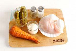 Салат с курицей и морковью - фото шаг 1