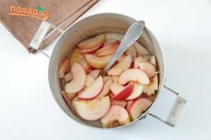 Пирог с яблоками в сливках - фото шаг 9