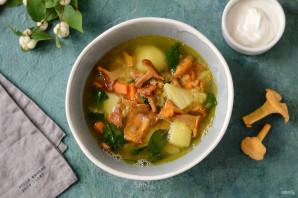 Суп с чечевицей и лисичками - фото шаг 8