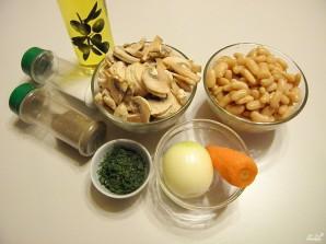 Салат с грибами и фасолью - фото шаг 1