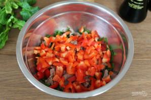 Салат с мясом и соевым соусом - фото шаг 4