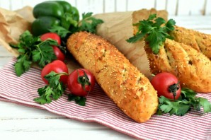 Французский хлеб с ветчиной - фото шаг 7