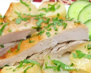 "Курица с картофелем, запеченная в ""рукаве"" - фото шаг 6"