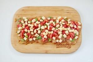 Куриный рулет с сыром и томатами - фото шаг 8