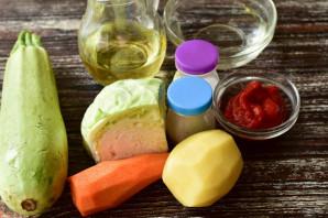 Овощное рагу с томатной пастой - фото шаг 1
