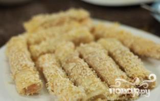 Сырные палочки с курицей - фото шаг 6