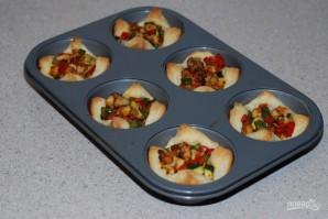 Слоеные корзиночки с овощами - фото шаг 5