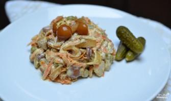 Салат с курицей и опятами - фото шаг 9