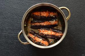 Фаршированные баклажаны с морковью и капустой - фото шаг 8