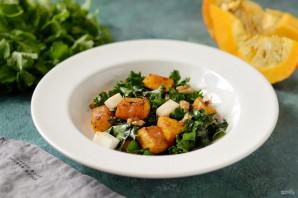 Теплый салат с тыквой - фото шаг 6