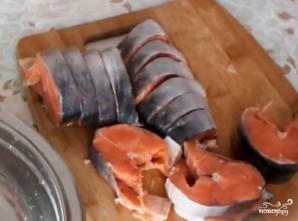 Горбуша в фольге в духовке - фото шаг 1