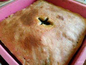 Пирог из постного теста с летней зеленью  - фото шаг 10