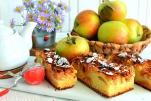 Пирог с яблоками на творожном тесте - фото шаг 6
