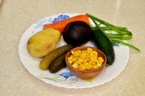 Винегрет с кукурузой - фото шаг 1