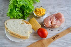 Салат с гренками - фото шаг 1
