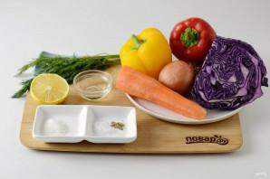 Салат из краснокочанной капусты - фото шаг 1