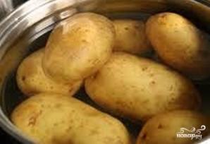 Картофельные лодочки с начинкой - фото шаг 1