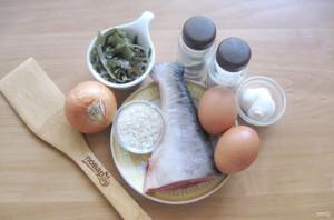 Салат с морской капустой и горбушей - фото шаг 1