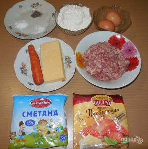 Пирог с мясом на скорую руку - фото шаг 1