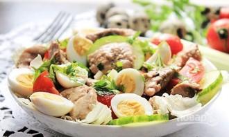 Салат из печени трески с яйцом - фото шаг 8