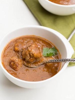 Томатный суп с тефтелями - фото шаг 9