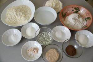 Мраморный хлеб - фото шаг 1